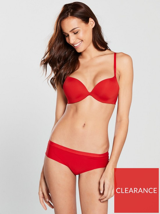 f45883a4bd9 Calvin Klein Push Up Plunge Bra - Red | very.co.uk