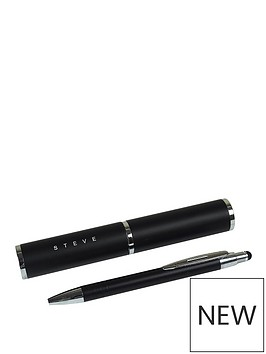 personalised-pen-tube-with-gift-pen-black-or-pink