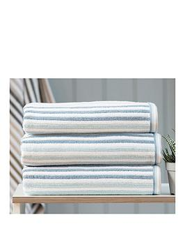 deyongs-hanover-100-cotton-soft-textured-ribbed-towel-collectionnbsp--blue