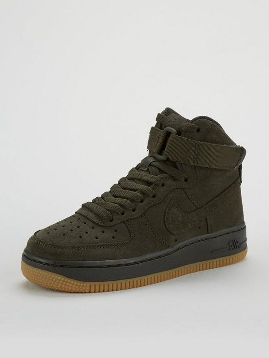 buy online 8ce26 14bb1 Nike Air Force 1 High Lv8 Junior Trainer - Khaki
