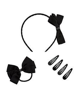mini-v-by-very-schoolwear-hair-accessory-set-black
