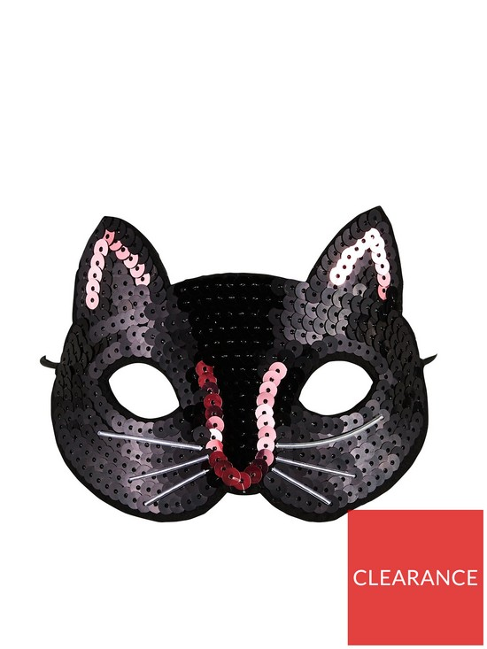 f691bd2bc63 Mini V by Very Girls Sequin Cat Mask - Black