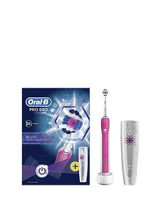 Oral-B Oral-B Pro 680 Pink 3DWhite Electric Toothbrush with Travel Case- Limited Edition