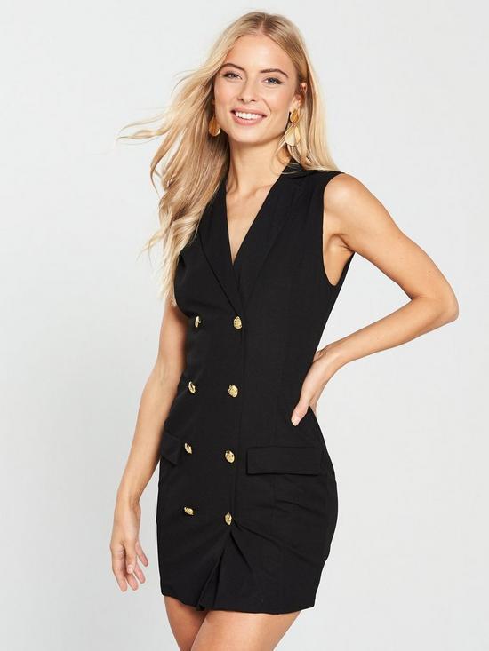 08ef0941a0 AX Paris Sleeveless Blazer Dress