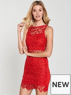 ax-paris-red-crochet-mini-bodycon-dress