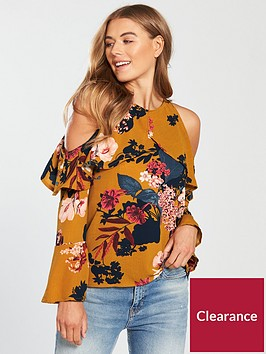 ax-paris-cut-out-shoulder-printed-top