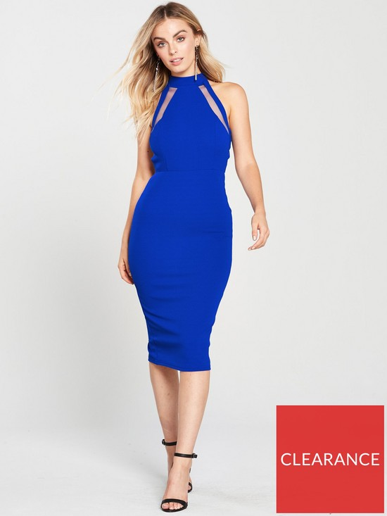 6bfa4f50b0e21 AX Paris Cut Out Back Midi Bodycon Dress - Blue