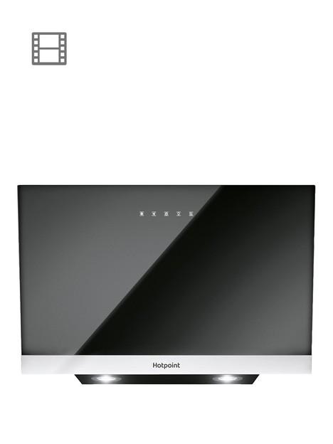 hotpoint-phvp87fltk-80cmnbspwide-cooker-hood-blackstainless-steel