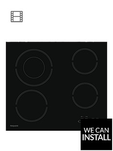 hotpoint-hr612ch-60cm-ceramic-hob-black-with-optional-installation