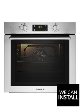 hotpoint-fa4s544ixh-60cm-electric-single-oven-black-stainless
