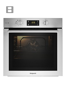 hotpoint-fa4s544ixh-60cmnbspwide-single-electric-oven-with-added-steam-plus-optional-installation-blackstainless