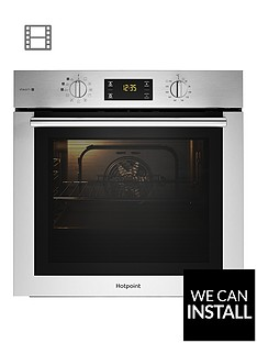 hotpoint-fa4s544ixh-60cmnbspwide-single-electric-oven-with-optional-installation-blackstainless