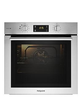 Hotpoint Fa4S544Ixh 60Cm Electric Single Oven Black & Stainless - Oven Only