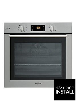 hotpoint-fa4s544ixh-60cmnbspsingle-electric-oven-with-optional-installation-blackstainless