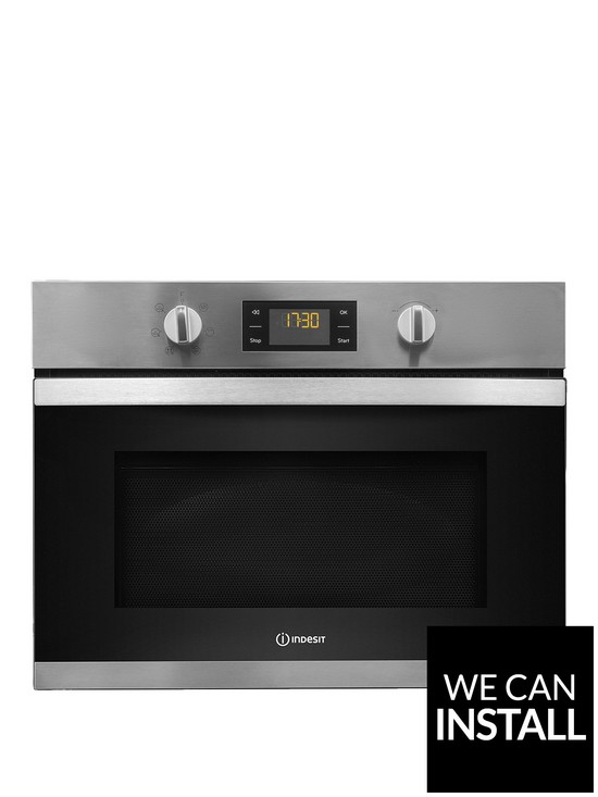 Aria MWI3443IX Built-In Microwave with Grill and Optional Installation -  Stainless Steel