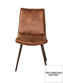 hudson-living-pair-of-hinks-faux-leather-dining-chairs-brown