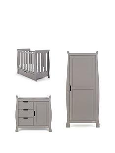 obaby-stamford-space-saver-sleigh-3-piece-nursery-room-set