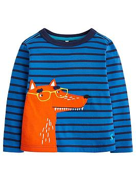 joules-boys-jack-stripe-fox-t-shirt-blue
