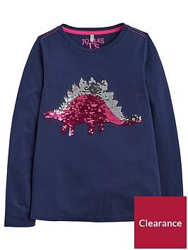 joules-girls-ava-dinosaur-sequin-long-sleeve-t-shirt-navy