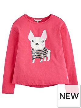 joules-girls-raya-pug-sequin-long-sleeve-t-shirt