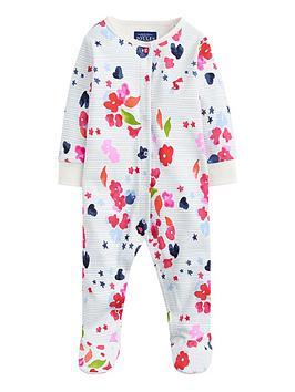 joules-baby-girlsnbsprazamataz-floral-stripe-print-babygrownbsp--multi