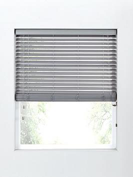 Product photograph showing Made To Measure 50mm Wooden Blinds In Grey
