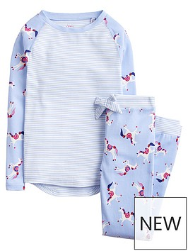 joules-girls-sleepwell-jersey-unicorn-pyjama-set