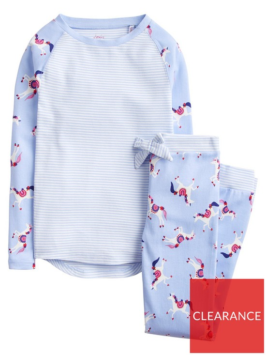 9cd80ea844 Joules Girls Sleepwell Jersey Unicorn Pyjama Set