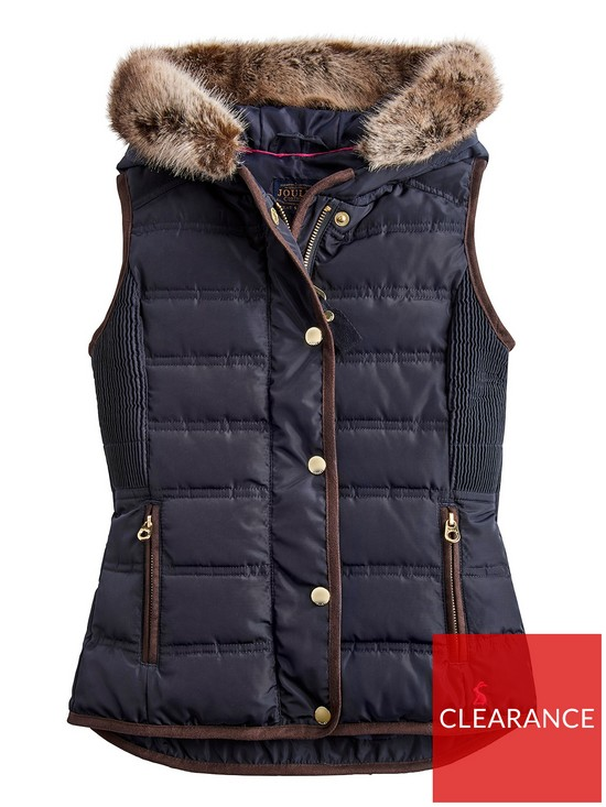 973f437909 Joules Girls Alanis Faux Fur Hooded Gilet