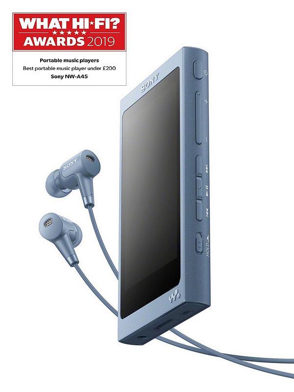 Moonlight Blue Sony Walkman NW-A45 Hi-Res 16GB MP3 Player w//Bluetooth /& FM