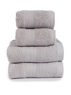 essentials-collection-4-piece-100-cotton-450-gsm-quick-dry-towel-bale-light-grey