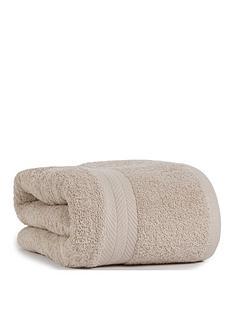 essentials-collection-100-cotton-450-gsm-quick-dry-jumbo-bath-sheet-ndash-pebble