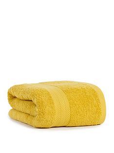 essentials-collection-100-cotton-450-gsm-quick-dry-jumbo-bath-sheet-ndash-saffron