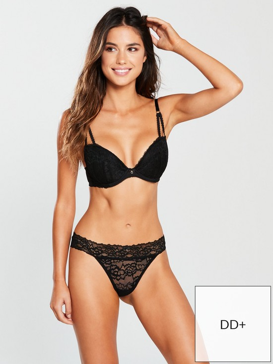 d5f05bd260249 Ann Summers Sexy Lace 2 Plunge Bra - Black