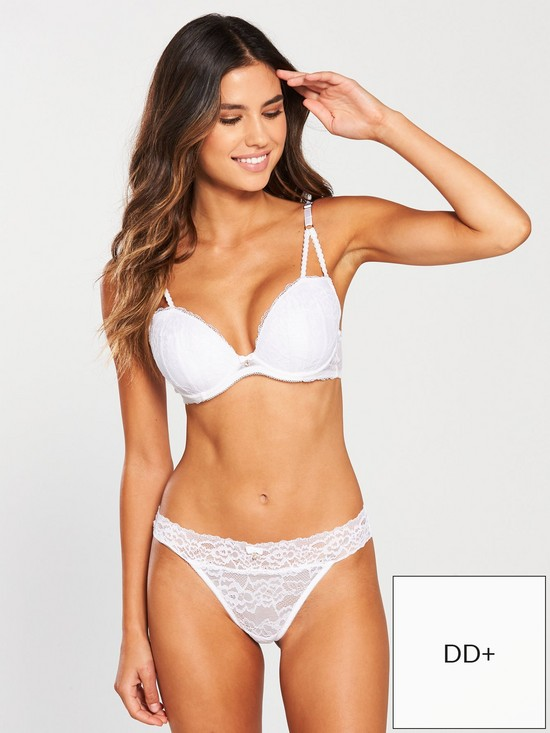 438188a7f Ann Summers Sexy Lace Plunge Bra - White