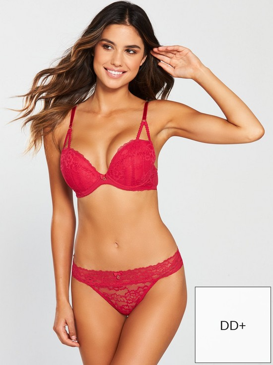 601e7017cf Ann Summers Sexy Lace 2 Plunge Bra - Red