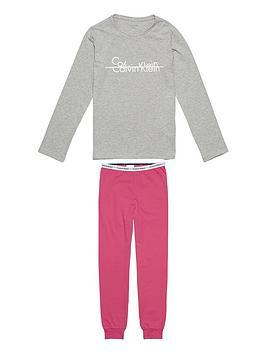 calvin-klein-girls-logo-cuffed-pj-set