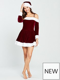 ann-summers-miss-santa-dress-with-hat-rednbsp