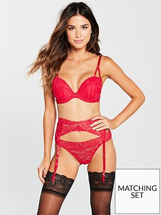 Ann Summers Sexy Lace Two Suspender Belt - Red 8d9e19585