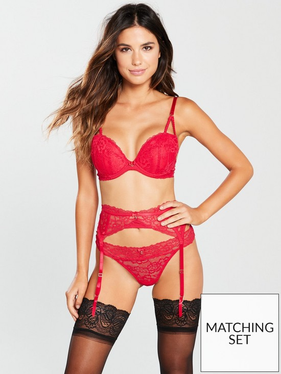 02c4d3b4f9 Ann Summers Sexy Lace Two Suspender Belt - Red