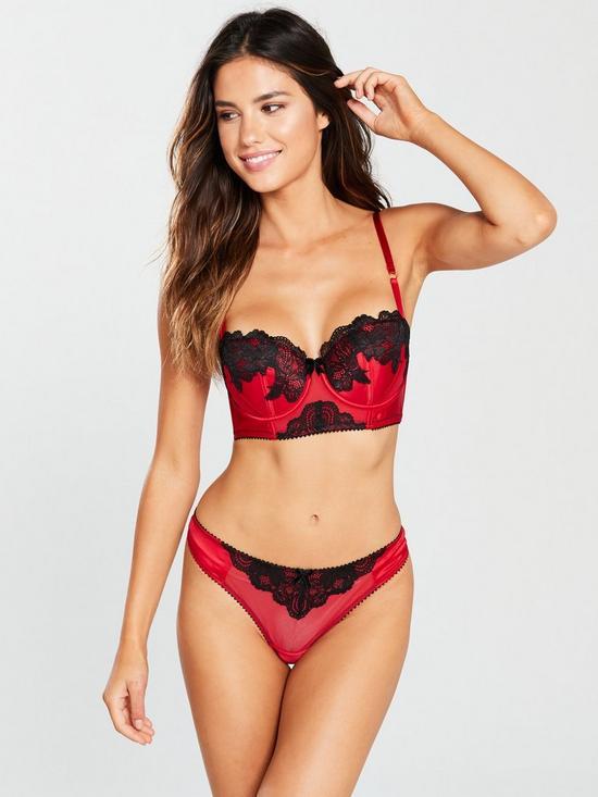 4ae9fff2274fd Ann Summers Alissa Balcony Bra - Red Black