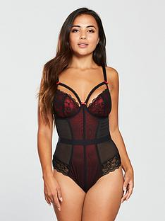 128328019 Basques, Bodies & Bodysuits | Lingerie | Very.co.uk