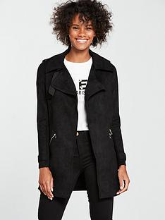 river-island-river-island-longline-faux-suede-trench-jacket--black