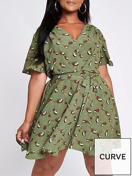 ri-plus-printed-tea-dress-green