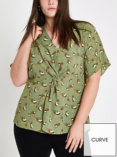 ri-plus-ri-plus-printed-twist-front-top--green