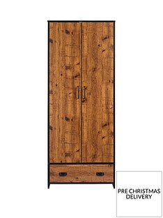 Jackson 2 Door 1 Drawer Wardrobe