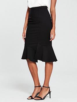 river-island-ponte-pencil-skirt--black