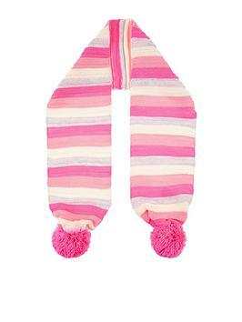 accessorize-girls-stripe-pom-scarf