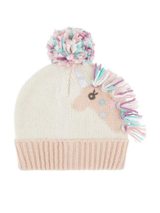 fe056a86f50 Accessorize Girls Sparkle Unicorn Beanie Hat - Multi