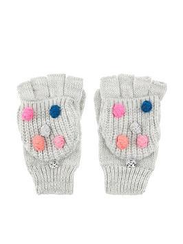 accessorize-girls-pom-pom-capped-mittens-grey